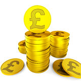 Pound Savings Indicates British Pounds And Cash Royalty Free Stock Photography