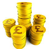 Pound Savings Indicates Monetary Capital And Prosperity Stock Images