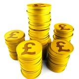 Pound Savings Indicates Monetary Capital And Prosperity Stock Images