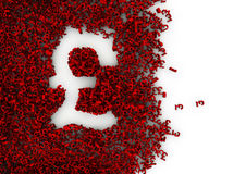 Pound sign. Symbol shaped hole formed by thousands of smaller ones, easy to colorize Stock Image