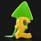 Pound sign with arrow up. Image with clipping path Stock Photography