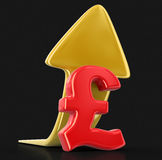 Pound sign with arrow up. Image with clipping path Stock Images