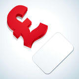 Pound sign and business card Royalty Free Stock Photo