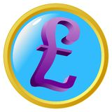 Pound sign button Royalty Free Stock Images