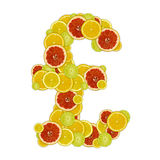 Pound sign of citrus fruit slices Stock Images