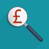 Pound sign. Concept for business and e-commerce. Flat design element Stock Illustration