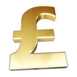 Pound sign gold Stock Photography