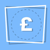 Pound Sign Icon Currency Web Button. Flat Vector Illustration Stock Images