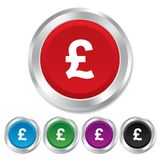 Pound sign icon. GBP currency symbol. Stock Image