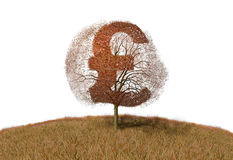 Pound sign on a tree. Illustration of pound sign on a tree Stock Photos