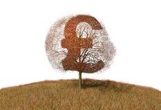 Pound sign on a tree. Illustration of pound sign on a tree Stock Illustration