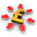 Pound in the spotlight Stock Images