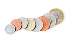 Pound Sterling Coins Royalty Free Stock Photography