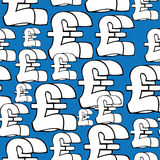 Pound sterling currency symbol seamless pattern Stock Photo