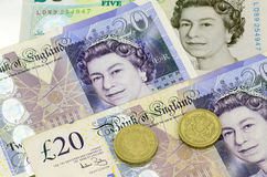 POUND sterling currency of the United Kingdom Stock Image