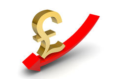 Pound Sterling Down Arrow Stock Images