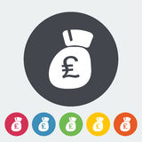 Pound sterling flat icon. Pound sterling. Single flat icon on the circle. Vector illustration Royalty Free Stock Image