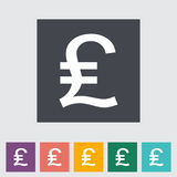 Pound sterling flat icon. Stock Images