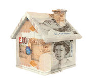 Pound Sterling House Isolated Royalty Free Stock Image
