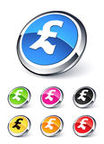 Pound sterling icon. Clipart illustration Stock Photos
