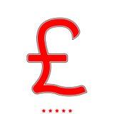 Pound sterling it is icon . Pound sterling  it is icon . Flat style Stock Image