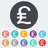 Pound sterling icon. Pound sterling. Single flat icon on the circle. Vector illustration vector illustration