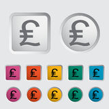 Pound sterling icon. Vector illustration royalty free illustration