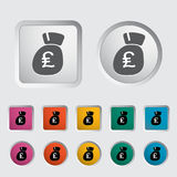 Pound sterling icon. Vector illustration stock illustration