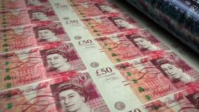 Pound Sterling money banknotes printing seamless loop