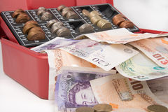 Pound sterling money in safe Stock Images