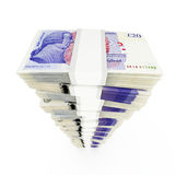 Pound sterling stack Royalty Free Stock Image