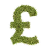 Pound sterling symbol made from grass. Pound sterling symbol made from grass symbolising the costs and benefits of green issues and conservation Vector Illustration