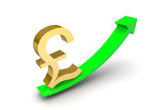 Pound Sterling Up Arrow Royalty Free Stock Photo