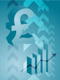 Pound success illustration. Abstract financial success illustration with pound currency Royalty Free Stock Images