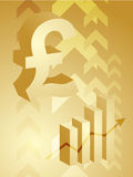 Pound success illustration. Abstract financial success illustration with pound currency Stock Photos