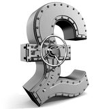 Pound symbol. Bank safe from UK pound symbol Stock Images