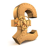 Pound symbol. Bank safe from UK pound symbol royalty free illustration