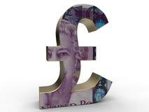 Pound symbol blend with a pound bill Stock Image