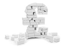 Pound symbol in bricks Royalty Free Stock Photo