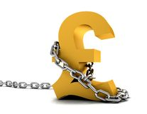 Pound symbol chained Royalty Free Stock Image