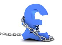 Pound symbol in chains Stock Photography