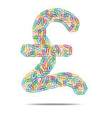 Pound symbol clips Royalty Free Stock Photography