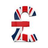 Pound Symbol with Flag Royalty Free Stock Photo