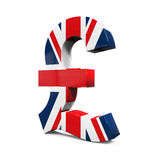 Pound Symbol with Flag Stock Images