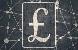 Pound Symbol on Molecule And Communication Background. Stock Image