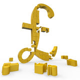 Pound Symbol Shows Money And Investments Royalty Free Stock Image