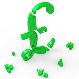Pound Symbol Shows UK Profit And Prosperity Royalty Free Stock Photos