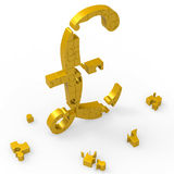 Pound Symbol Shows Wealth Currency And Banking Stock Photography
