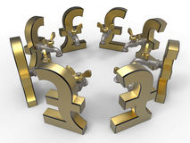 Pound symbol with tap circular pattern Royalty Free Stock Images