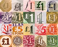 Pound symbols from all over the world Royalty Free Stock Image